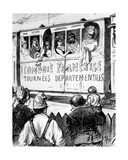 The Cast of the Comédie Française on Tour in France in a Special Train, Makes a Halt to Give… Giclee Print by Maigrot Henri Known As Henriot