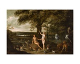 The Fall of Man in the Garden of Eden Giclee Print by Isaak van Oosten