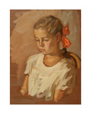 Portrait of a Young Girl, 1950s Giclee Print by Konstantin Lekomtsev
