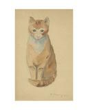 Cat, 1930s Giclee Print by Natalia Aleksandrovna Gippius