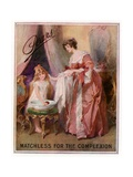 Pears Soap Advertisement. Matchless for the Complexion Giclee Print