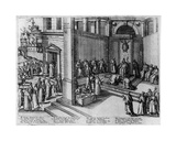 Pope Clement Viii Accepts the Submission of the French King, Henri IV, in St. Peter's on 23… Giclee Print by German School