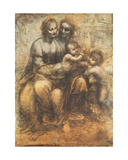 The Virgin and Child with Saint Anne, and the Infant Saint John the Baptist, C.1499-1500 Giclee Print by  Leonardo da Vinci
