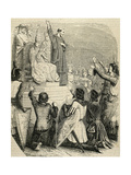 Peter the Hermit (1050-1115). Priest of Amiens. Preaching the First Crusade (1095) Giclee Print