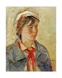 Portrait of a Komsomol Girl, 1970s Giclee Print by Konstantin Lekomtsev