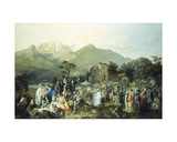 A Village Festival Giclee Print by Casimiro Radice