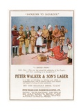 Peter Walker and Son's Lager. Advertisement Giclee Print