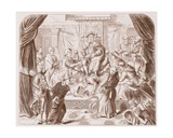 Allegorical Picture of Henry Viii Trampling on Pope Clement, from an Old Print in the British… Giclee Print