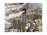 Boat Carrying Goods in the Port of London Giclee Print