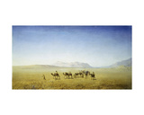 An Arab Caravan in the Desert Giclee Print by Henrik Ankarcrona