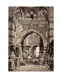 Entrance to the Khan El-Khalili Souk in Cairo, in the 19th Century, from 'El Mundo Ilustrado',… Giclee Print