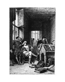 King Francis I of France in the Workshop of Robert Estienne, Print Made by C. Laplante,… Giclee Print by Alphonse Marie de Neuville
