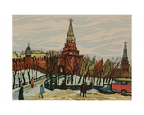 By the Walls of the Moscow Kremlin, 1960s Giclee Print by Natalia Aleksandrovna Gippius