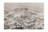 Artist's Impression of Olympia, Greece, at the Time of the Ancient Olympic Games, from 'El Mundo… Giclee Print by  European School