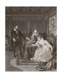 John Knox Admonishing Mary Queen of Scots, Engraved by A.H. Payne Giclee Print by William Allen