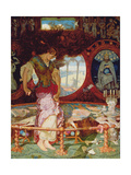 The Lady of Shalott, C.1886-1905 Giclee Print by William Holman Hunt