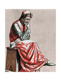 Dante Alighieri (1265-1321). Italian Poet Giclee Print