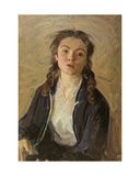 Portrait of a Young Russian Girl, 1950s Giclee Print by Konstantin Lekomtsev