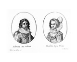 Frederick V of Bohemia and Elizabeth, Queen of Bohemia, Print Made by Balthasar Moncornet, C.1630 Giclee Print by Michel van Iochem