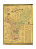 Scott's Map of the Consolidated City of Philadelphia, 1856 Giclee Print by James Scott