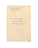 Title Page for 'The Principles of Parliamentary Representation', 1884 Giclee Print by Charles Lutwidge Dodgson