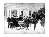 Victorian Sleigh Ride, C.1870-99 Photographic Print