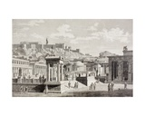 Imaginary View of the Market Place of Agora in Athens, Ancient Greece, from 'El Mundo Ilustrado',… Giclee Print