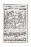 A Page from 'The Game of the Chesse' Printed by Caxton in 1480 Giclee Print