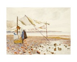 The Shore Giclee Print by Marmaduke C. William Flower