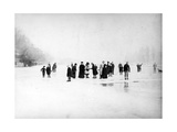 Ice Skating on the Fens, C.1870-99 Reproduction photographique
