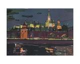 Fireworks over the Kremlin, 1970s Giclee Print by Natalia Aleksandrovna Gippius