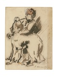 The Child and the Dog Giclee Print by Edouard Manet