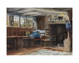 Interior of Anne Hathaway's Cottage, with Cat Giclee Print by Henry Eddowes Keene