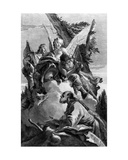 Three Angels Appearing to Abraham, Engraved by Pietro Monaco, C.1750 Giclee Print by Giovanni Battista Tiepolo