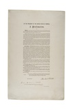 Emancipation Proclamation, 1863 Giclee Print by Abraham Lincoln