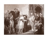 Cardinal Wolsey at Leicester Abbey, Engraved by R. Walther Giclee Print by Richard Westall