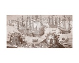 Henry Viii Embarking at Dover, from the Large Print Published by the Royal Society of Antiquities Giclee Print by Samuel Hieronymous Grimm