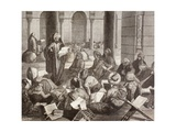 Professor Lecturing at the Al-Azhar University, Cairo, in the 19th Century, from 'El Mundo… Giclee Print
