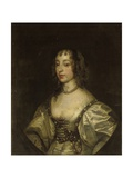 Portrait of Queen Henrietta Maria Giclee Print by Sir Anthony van Dyck
