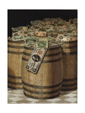 Barrels of Money Giclee Print by Victor Dubreuil