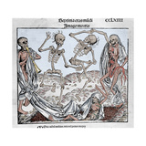 The Dance of Death (1493) by Michael Wolgemut, from the Liber Chronicarum by Hartmann Schedel Giclee Print