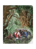 India. Sepoy Rebellion (1857). English Delegation Giclee Print