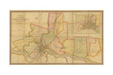 Map of the County of Philadelphia from Actual Survey, 1843 Giclee Print by Charles Jr. Ellet