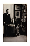 Portrait of Igor Stravinsky and Claude Debussy at the Time of the Diaghilev Ballets 'Jeux' and… Giclée-Druck von Erik Satie