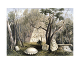 Pyramidal Building and Fragments of Sculpture at Copan, from 'Views of Ancient Monuments in… Giclee Print by Frederick Catherwood
