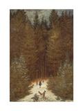 Hunter in the Forest, C.1814 Reproduction procédé giclée par Caspar David Friedrich