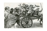 Off to Epping Forest: a Study of a Coster and a Family Party on Whitmonday Giclee Print by Charles Paul Renouard