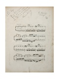 Page from the First Corrected Proof of 'La Damoiselle Elue', C.1887-88 Giclee Print by Claude Debussy