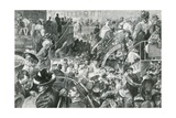A Popular Cockney Resort: the Crowd at the Foot of Highgate Hill on Bank Holiday Giclee Print by Charles Paul Renouard