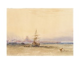 Morning, Hartlepool Giclee Print by Anthony Vandyke Copley Fielding